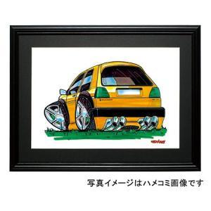 イラスト ゴルフII(黄・後ろ)|motorparade
