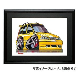 イラスト ボルボV70R(黄)|motorparade
