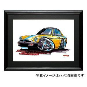 イラスト MGB(黄)|motorparade
