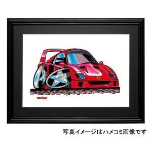 イラスト フェラーリF40|motorparade