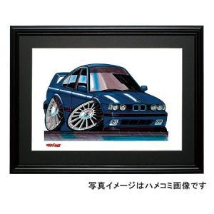 イラスト BMW E34 M5(紺)|motorparade