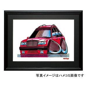 イラスト Eクラス W124(AMGエステート・赤)|motorparade
