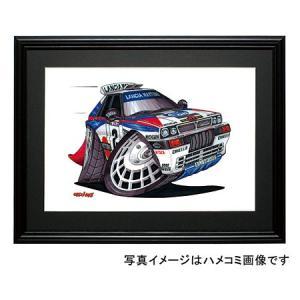 イラスト ランチア・インテグラーレ(WRC)|motorparade