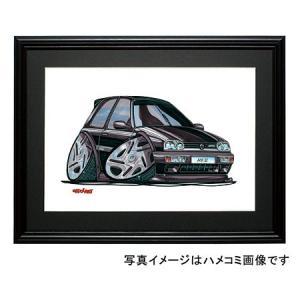 イラスト ゴルフIII VR6(黒・前)|motorparade