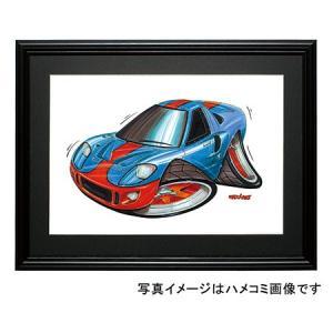 イラスト GT40(水色/オレンジ)|motorparade