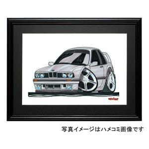 イラスト BMW E30(シルバー・前)|motorparade
