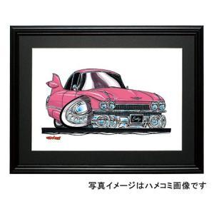 イラスト キャデラック・エルドラド(ピンク)|motorparade