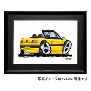 イラスト プジョー306カブリオレ(黄)|motorparade