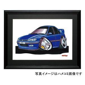 イラスト プジョー406(青)|motorparade