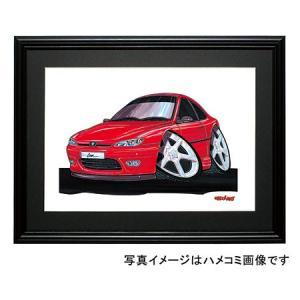 イラスト プジョー406クーペ(赤)|motorparade