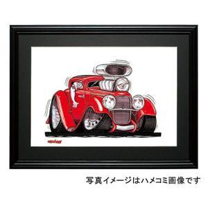 イラスト モデルB・デュース・クーペ|motorparade