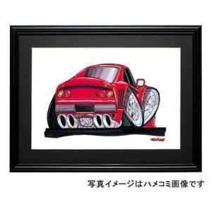 イラスト フェラーリ288GTO(後ろ)|motorparade