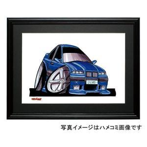 イラスト BMW E36 M3(青)|motorparade