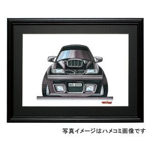 イラスト パルサーGTI-R(黒・前)|motorparade