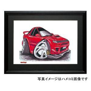 イラスト セリカGT-FOUR(5代目ST-185・赤)|motorparade