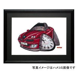 イラスト アルファ・スパイダー(マルーン)|motorparade