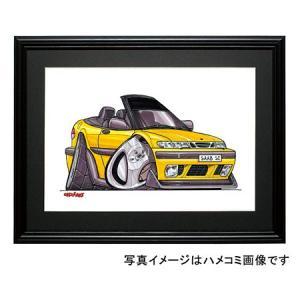イラスト サーブ9-3カブリオレ(黄)|motorparade