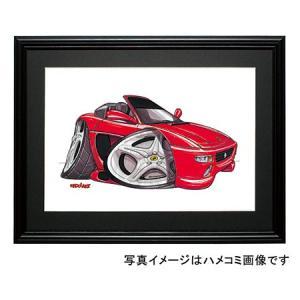 イラスト フェラーリF355(スパイダー)|motorparade