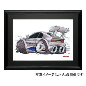イラスト ロータス・エスプリ350(銀)|motorparade