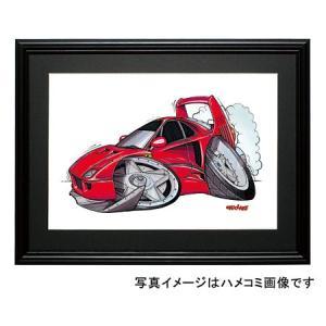 イラスト フェラーリF40(横)|motorparade