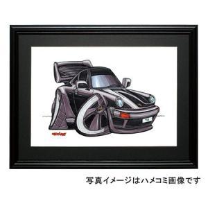 イラスト ポルシェ930(黒)|motorparade