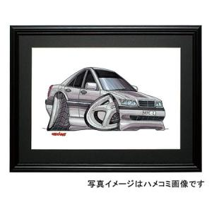 イラスト Cクラス W202(銀)|motorparade