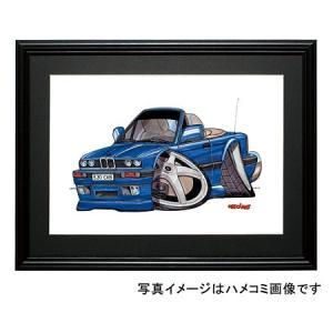 イラスト BMW E30(青・コンバチ)|motorparade