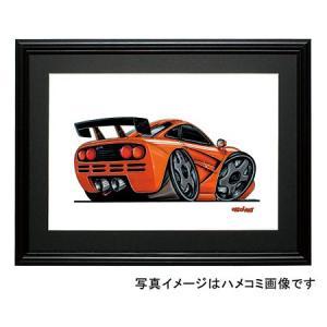 イラスト マクラーレンGTR(オレンジ)|motorparade