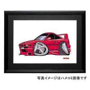 イラスト BMW E31 8シリーズ(赤)|motorparade