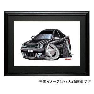 イラスト CLKクラス W208(黒・前)|motorparade