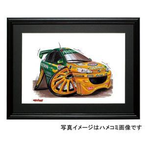 イラスト プジョー406(BTCC)|motorparade