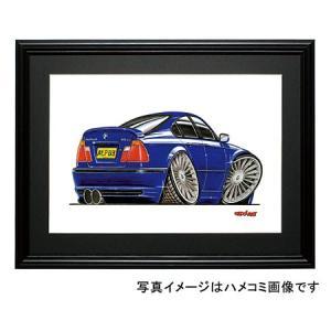 イラスト BMW E46(アルピナ)|motorparade