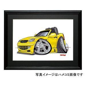 イラスト SLK(初代・黄色)|motorparade