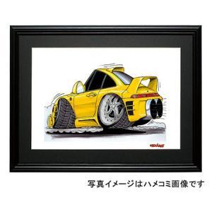 イラスト ポルシェ911(黄・後ろ)|motorparade