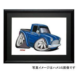 イラスト ミニ・ピックアップ(青)|motorparade