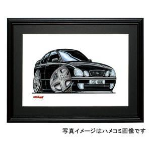 イラスト アリスト(レクサスGS・2代目・黒)|motorparade