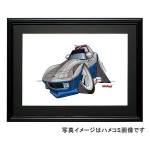 イラスト C3コルベット(銀/青)|motorparade