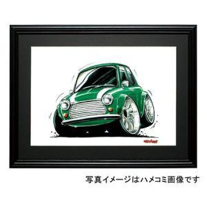イラスト ミニ・クーパー(緑/白)|motorparade