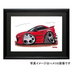 イラスト MR−2(AW11・赤・横)|motorparade
