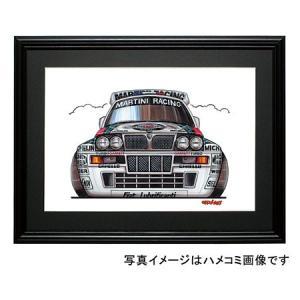 イラスト ランチア・インテグラーレ(正面)|motorparade