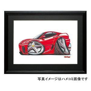 イラスト フェラーリ360モデナ(赤・横)|motorparade