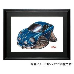 イラスト アルピーヌ・ルノーA110(青)|motorparade