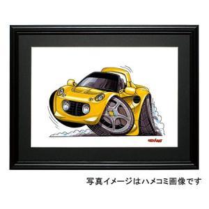 イラスト ロータス・エリーゼ(黄)|motorparade