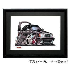 イラスト 190クラス W201(EVO-II・黒)|motorparade