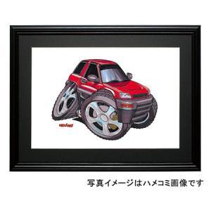 イラスト RAV4(初代・赤)|motorparade