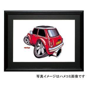 イラスト ミニ・クーパー(赤・後ろ)|motorparade