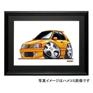 イラスト プジョー205GTI(黄)|motorparade