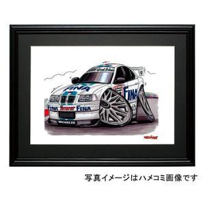 イラスト BMW E36 (ツーリングカー)|motorparade