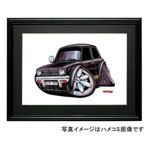 イラスト ミニ・クラブマン(1275GT・黒)|motorparade
