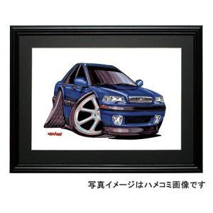 イラスト ボルボS40(青)|motorparade